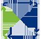 Data Migration icon Blue