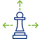 data strategy icon blue